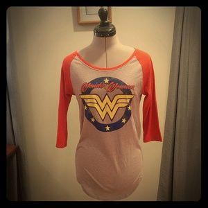 Wonder Woman Baseball Tee